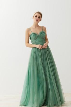 Vestidos elegantes verde botella