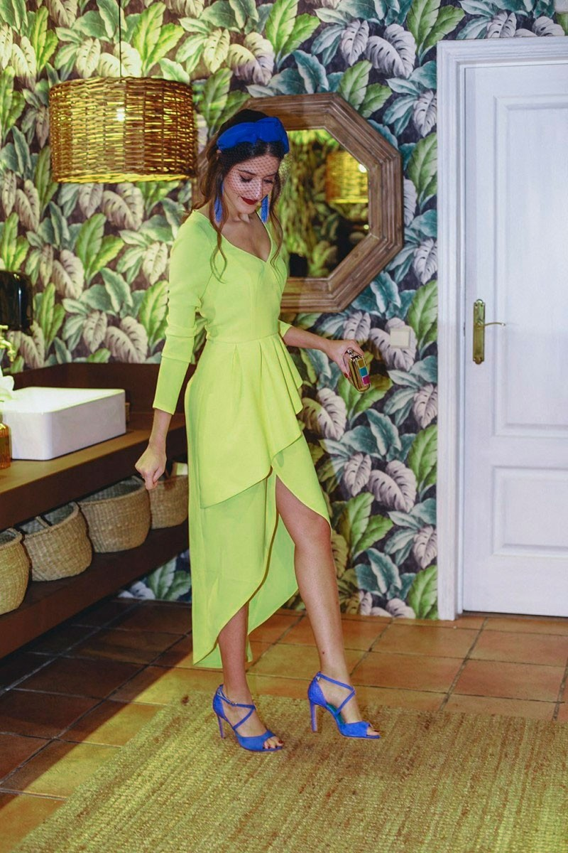 Vestidos de fiesta color lima
