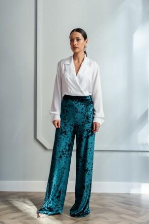 a3c236c423dcd comprar online pantalon largo de terciopelo verde apparentia ocasiones  especiales eventos invitadas apparentia