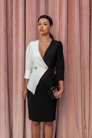 Vestido negro para boda de dia 2019