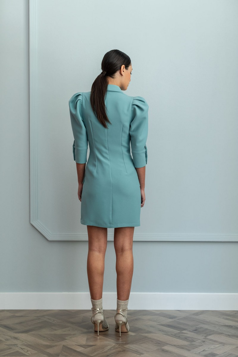 Vestidos color verde cortos