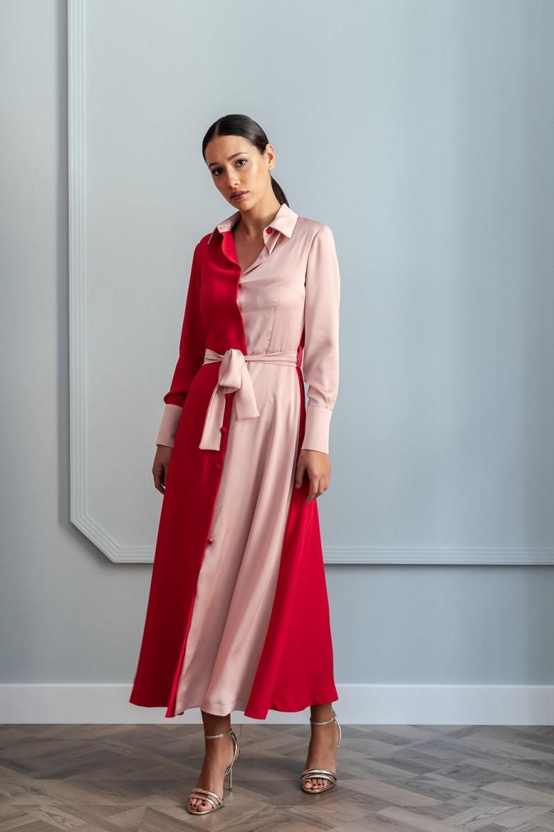2eca650b6 comprar online vestido para invitada camisero midi para eventos fiestas  bautizos comuniones bodas ocasiones especiales coctel