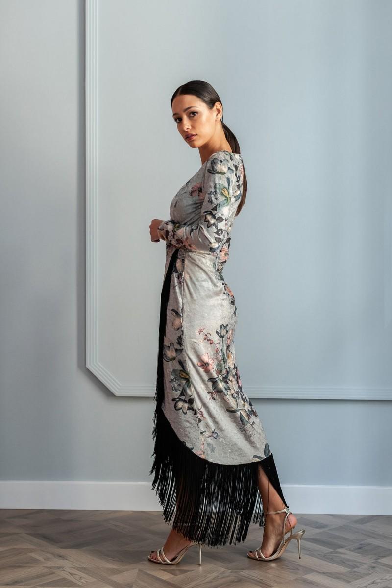 oficial de ventas calientes proporcionar una gran selección de compra original Vestido Midi Terciopelo Flecos Niobe