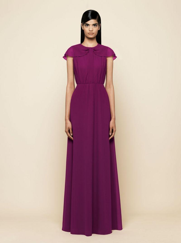 vestido de fiesta largo rojo cuello lazo capa para boda,