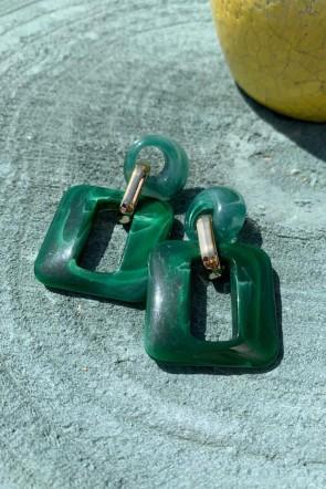 0be4fcd6c455 comprar online Maravillosos pendientes en un intenso color verde con un  circulito pequeño en el enganche