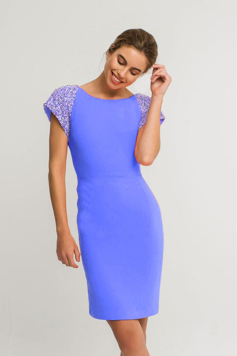 c0cfab1e672e Vestido Azul Corto Lentejuelas Ava