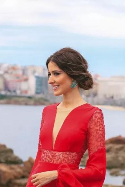 Vestido Largo Rojo Pedreria Sandra