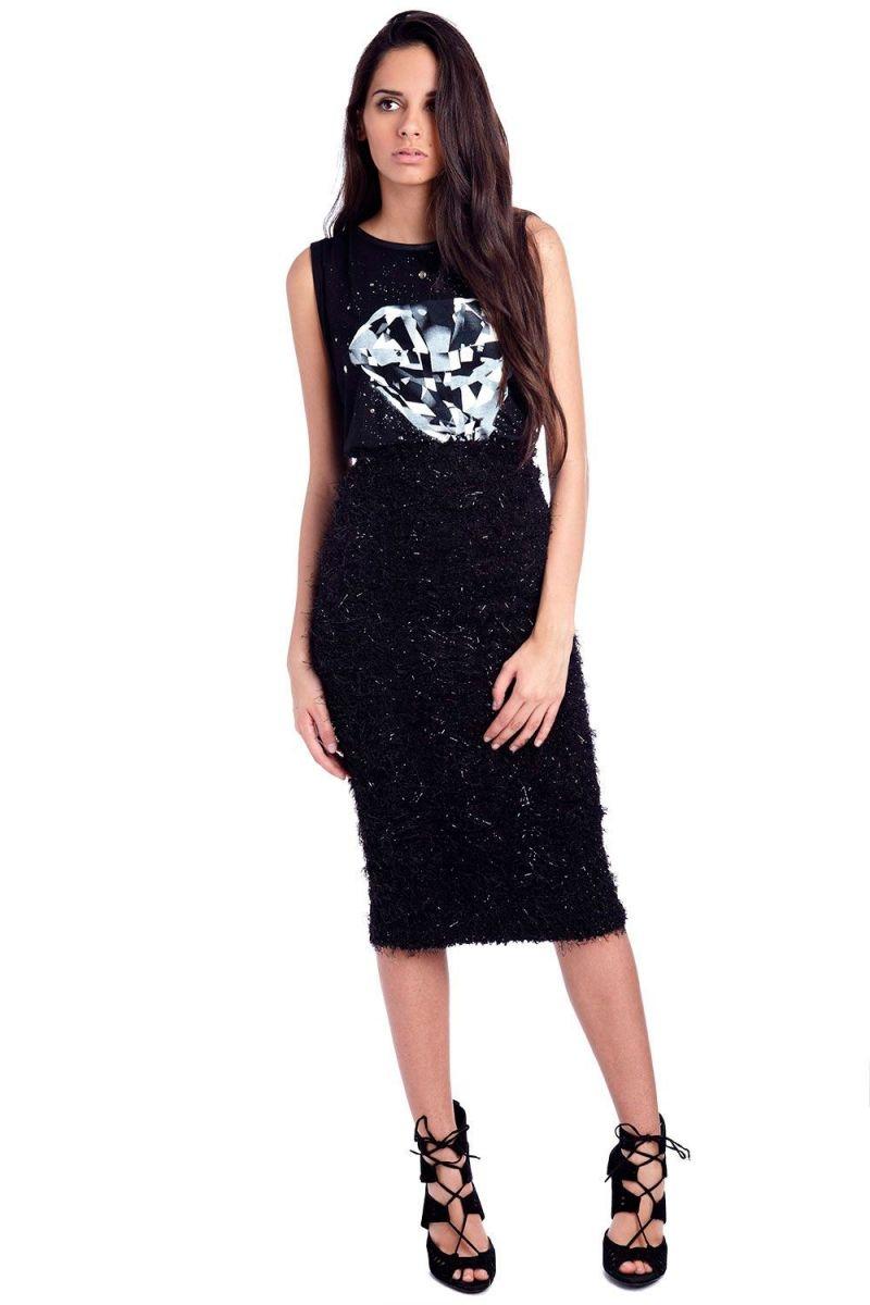 falda de q2 de tubo negra ed835959552