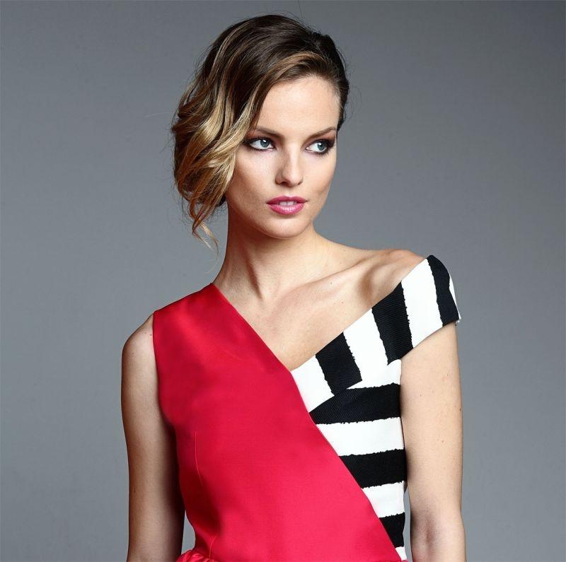 Vestidos en blanco negro y rojo
