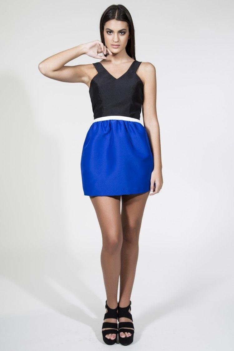 Vestidos de coctel cortos azul