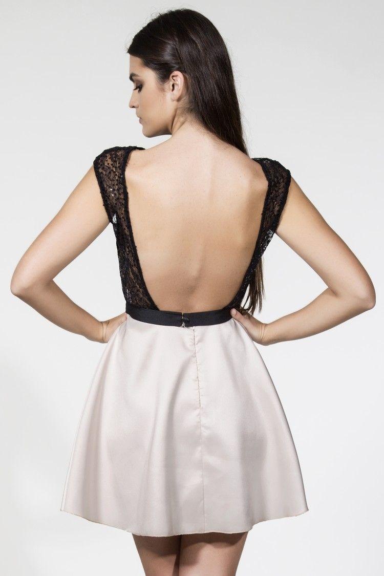 Vestido Vuelo Encaje Negro Nineta