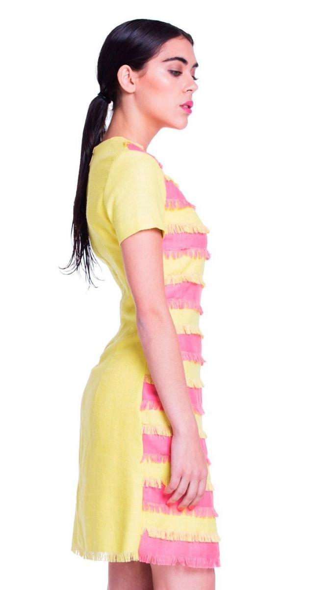 Único Vestidos De Cóctel Amarillo Ideas Ornamento Elaboración ...