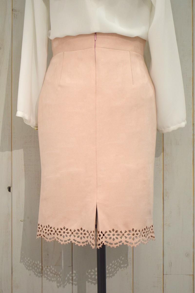 7d7851da5e omprar online falda de antelina rosa de otoño invierno para eventos  ocasiones especiales fiestas oficina para