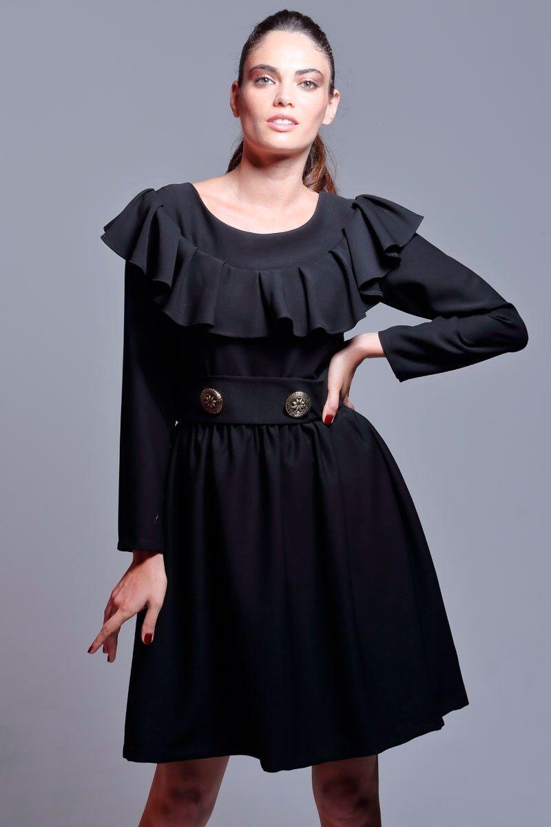 Vestido negro invierno 2016