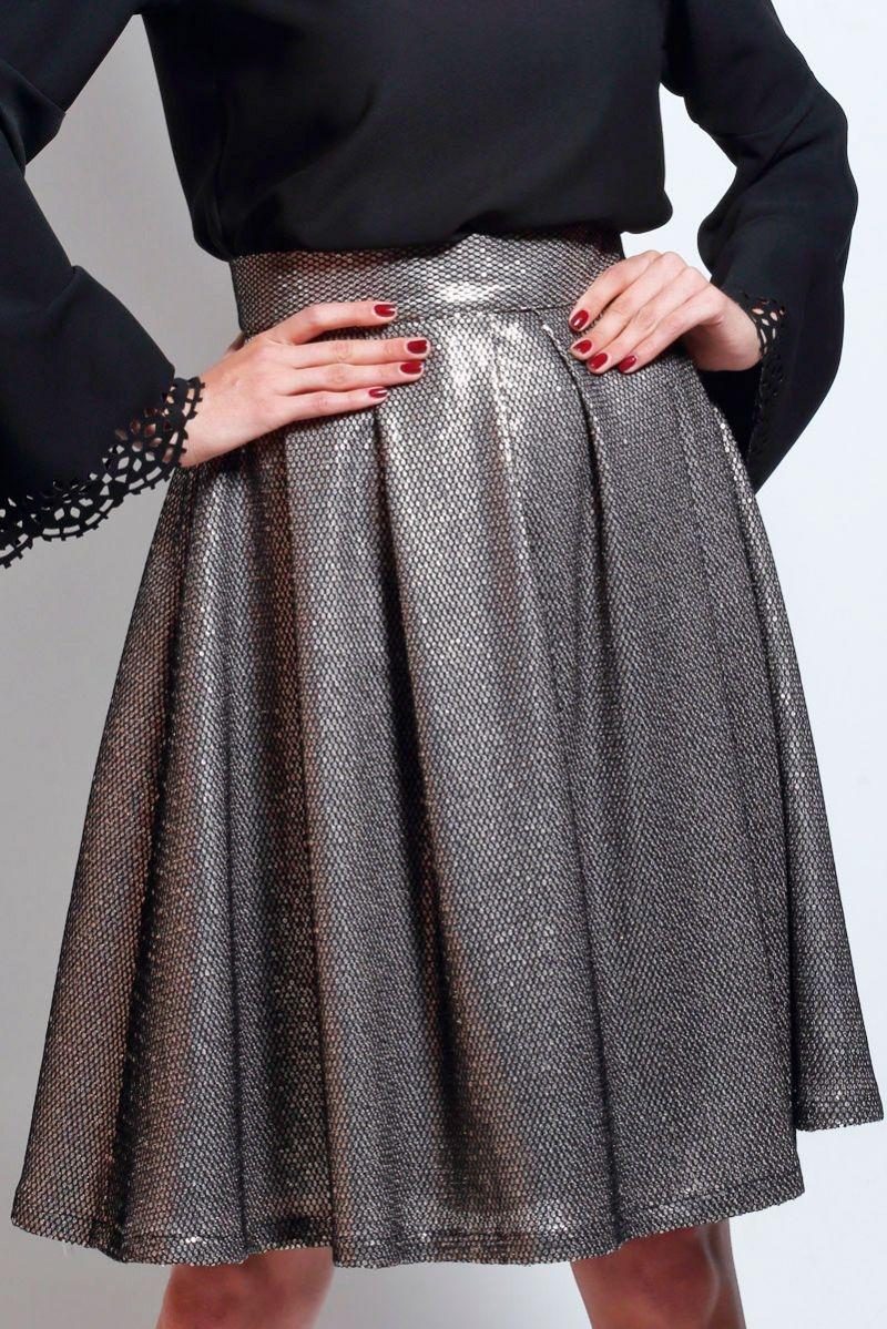 69ab8345f falda de vuelo midi de lentejuelas para bodas eventos bautizos fiestas de  apparentia