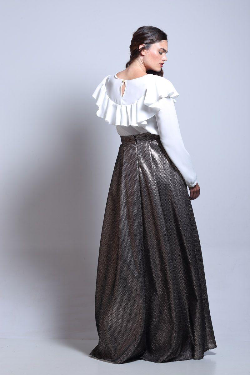 ae8cc9df7 faldas largas de fiesta de lentejuelas de vuelo con talle en la cintura de  otoño invierno