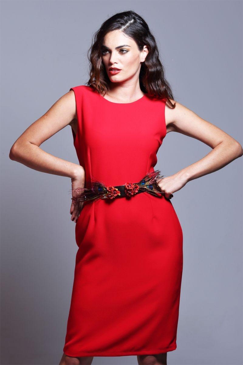 Vestidos De Fiesta Cortos Para Bodas En Color Rojo Con Capa