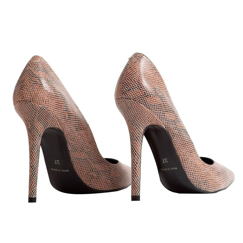 zapatos de salón stiletto de piel de vibora verde de mas34 online