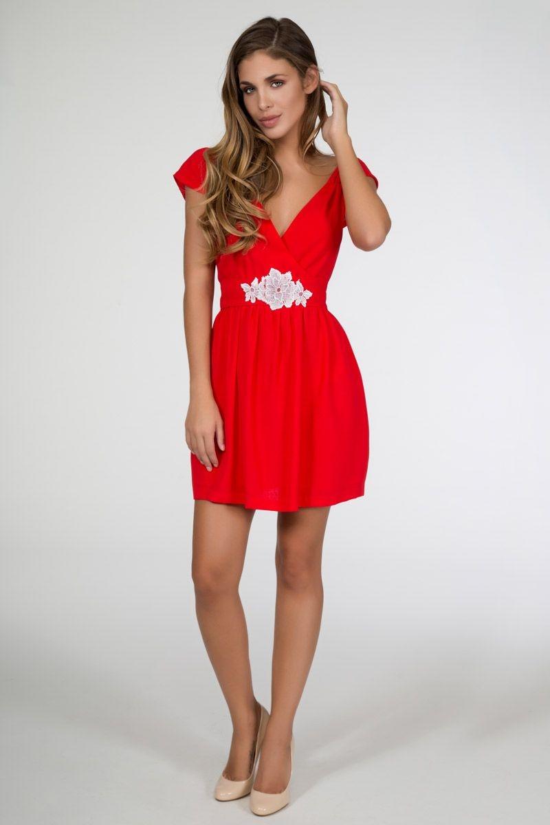Bajo vestido rojo de universitaria con carita - 1 5