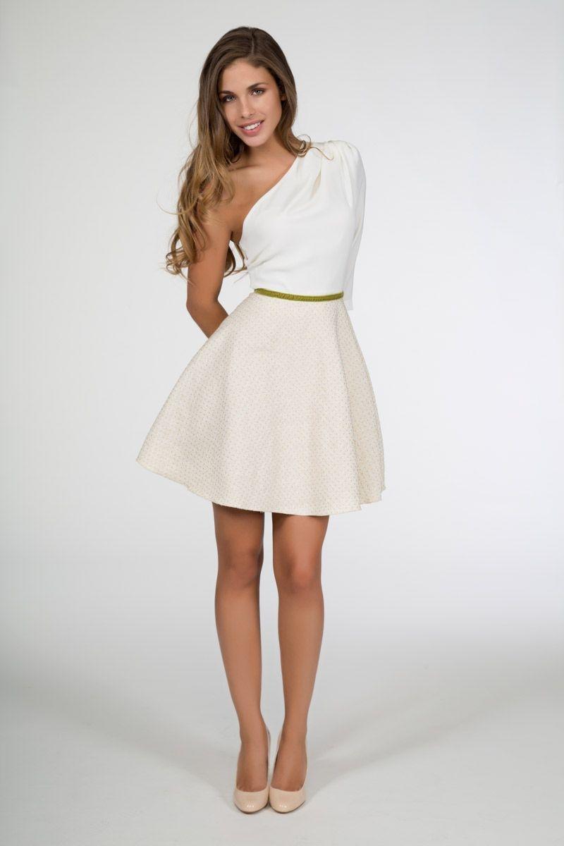 Vestidos en color blanco para coctel