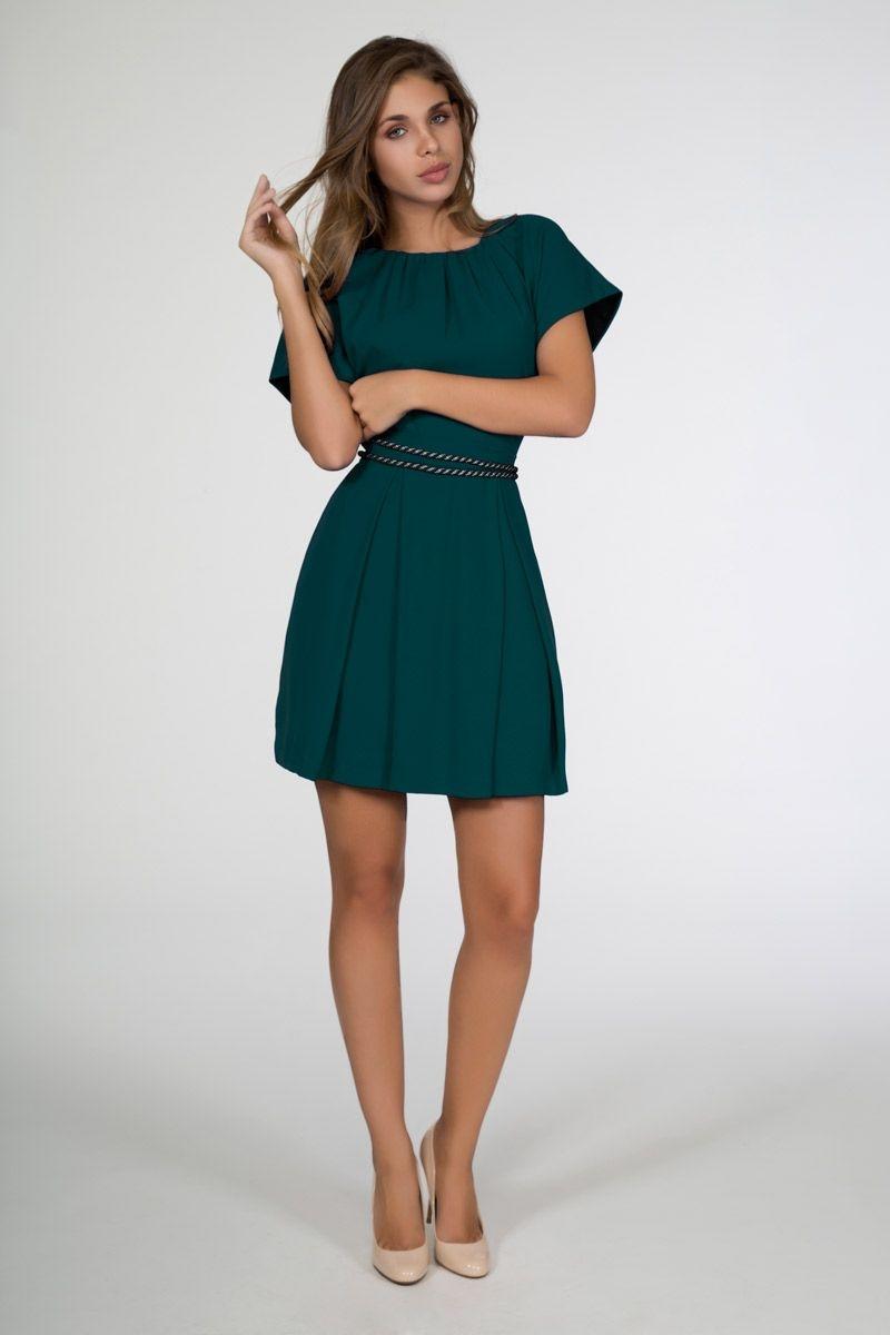 Vestido corto fiesta verde botella