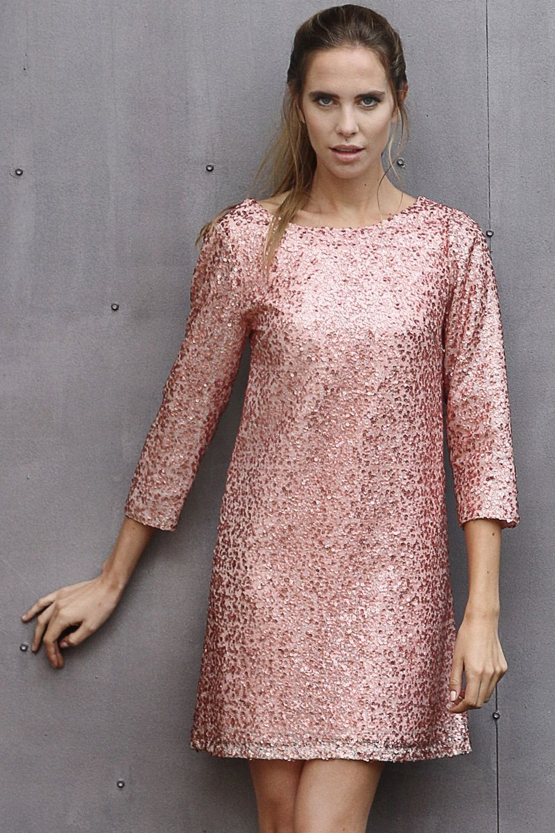French sequin dress