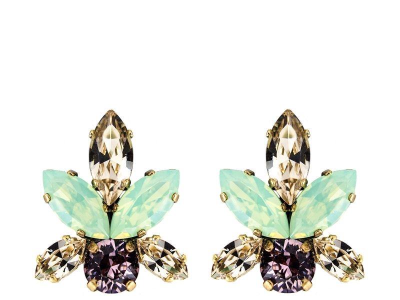 cd43f87cb557 pendientes de cristales swarovski azul y fucsia y dorado para fiestas  eventos bodas de legorburu en
