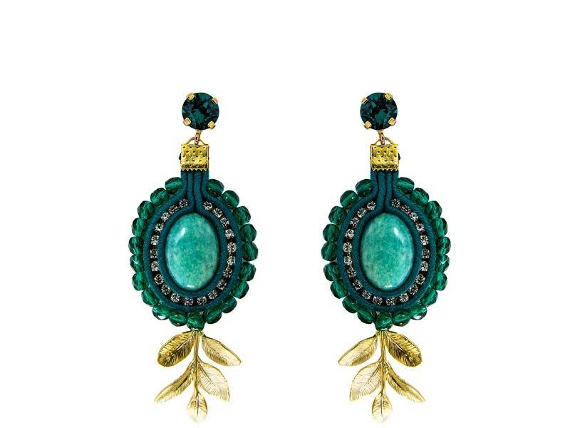86bedd483112 pendientes verde esmeralda largos de colgar para fiestas de legorburu en  apparentia