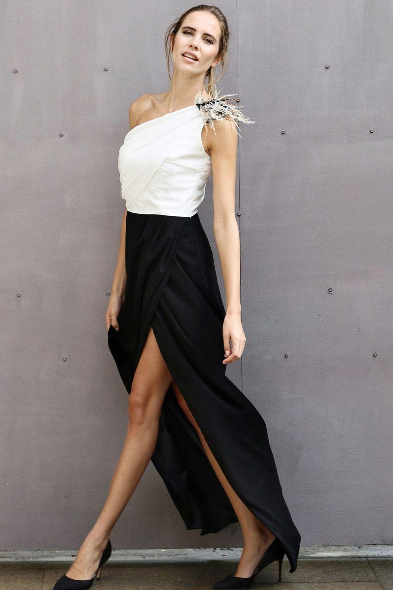 Vestidos blanco y negro de fiestas
