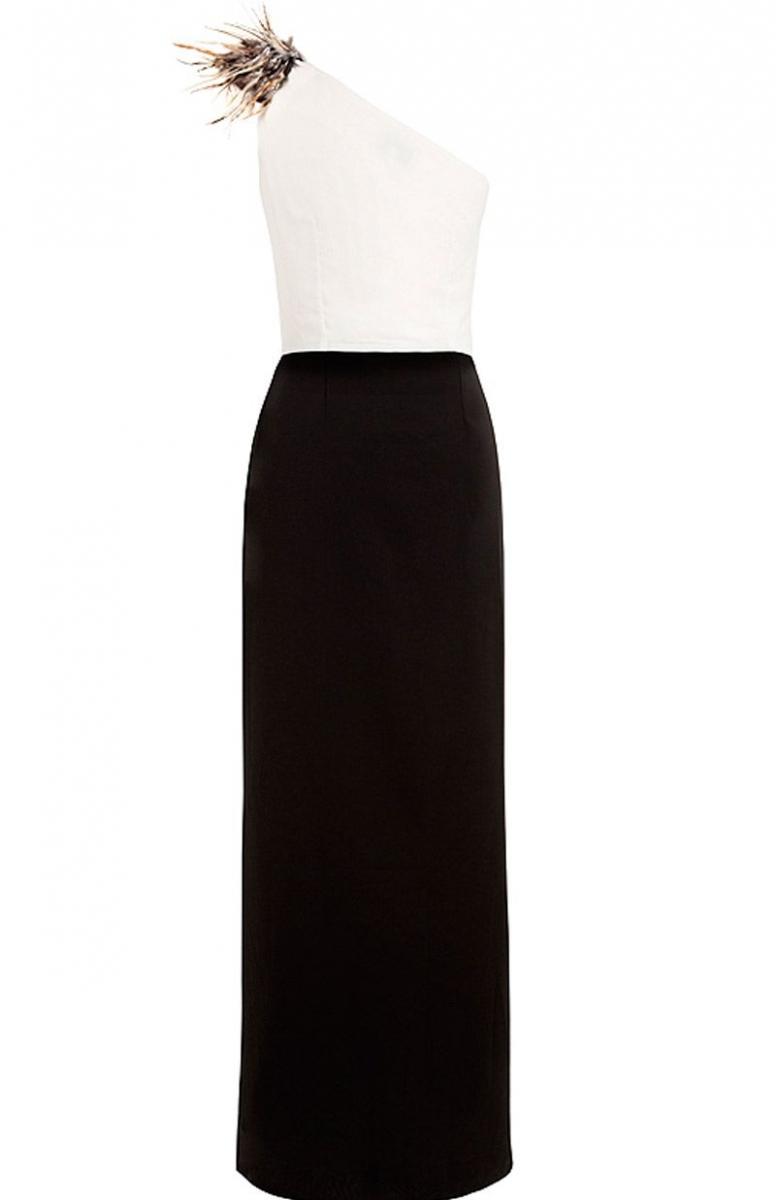 9a1716fefd vestido largo asimetrico blanco y negro para fiestas bodas eventos coctel nochevieja  de arimoka en apparentia