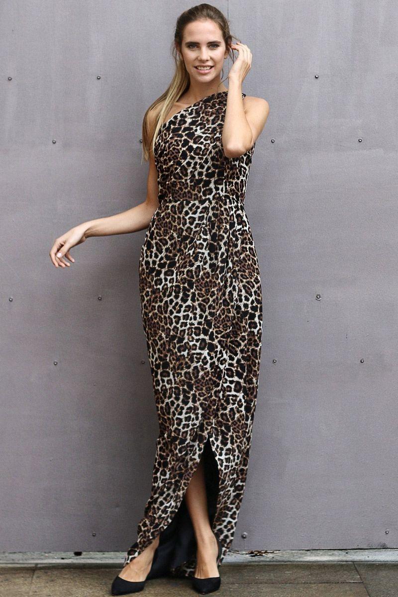 ed5fc350b vestido-largo-de-estampado-animal-print-asimetrico-para-