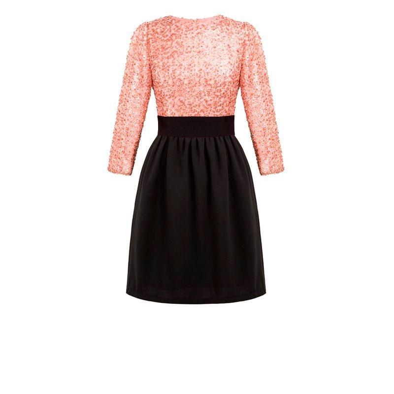 Vestidos fiesta rosa negra
