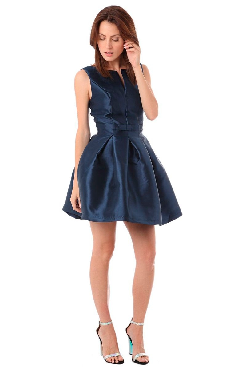 Vestidos azul oscuro corto