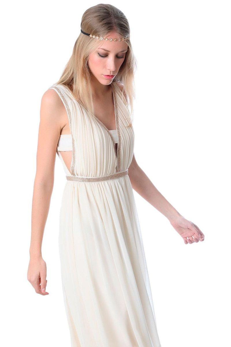 Vestidos griegos cortos para bodas