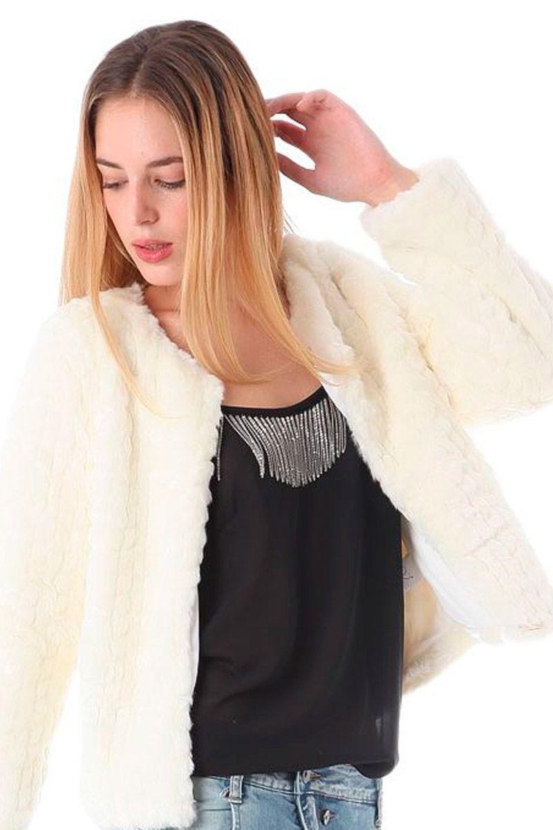 Abrigo blanco fiesta