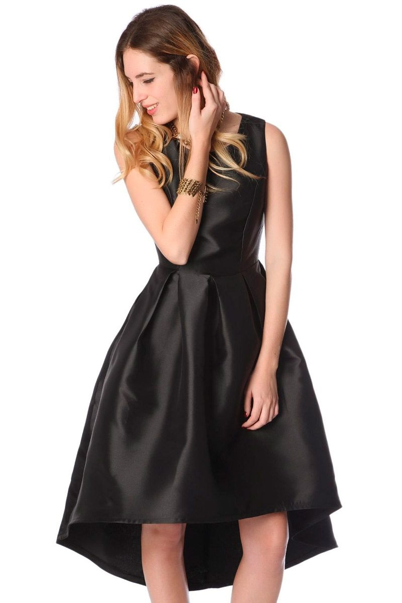 88ee89946 vestido negro de vuelo con bajo asimetrico para fiestas eventos ocasiones  especiales de q2 en apparentia