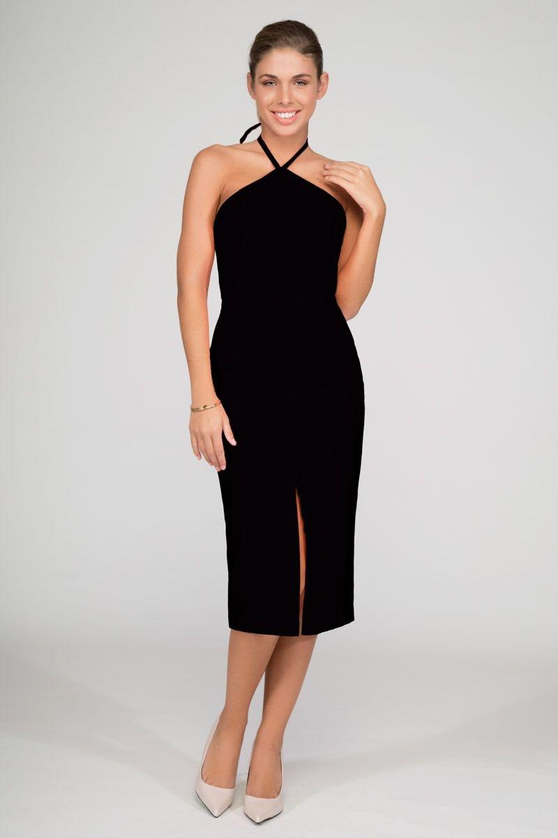 Vestidos negro escote halter