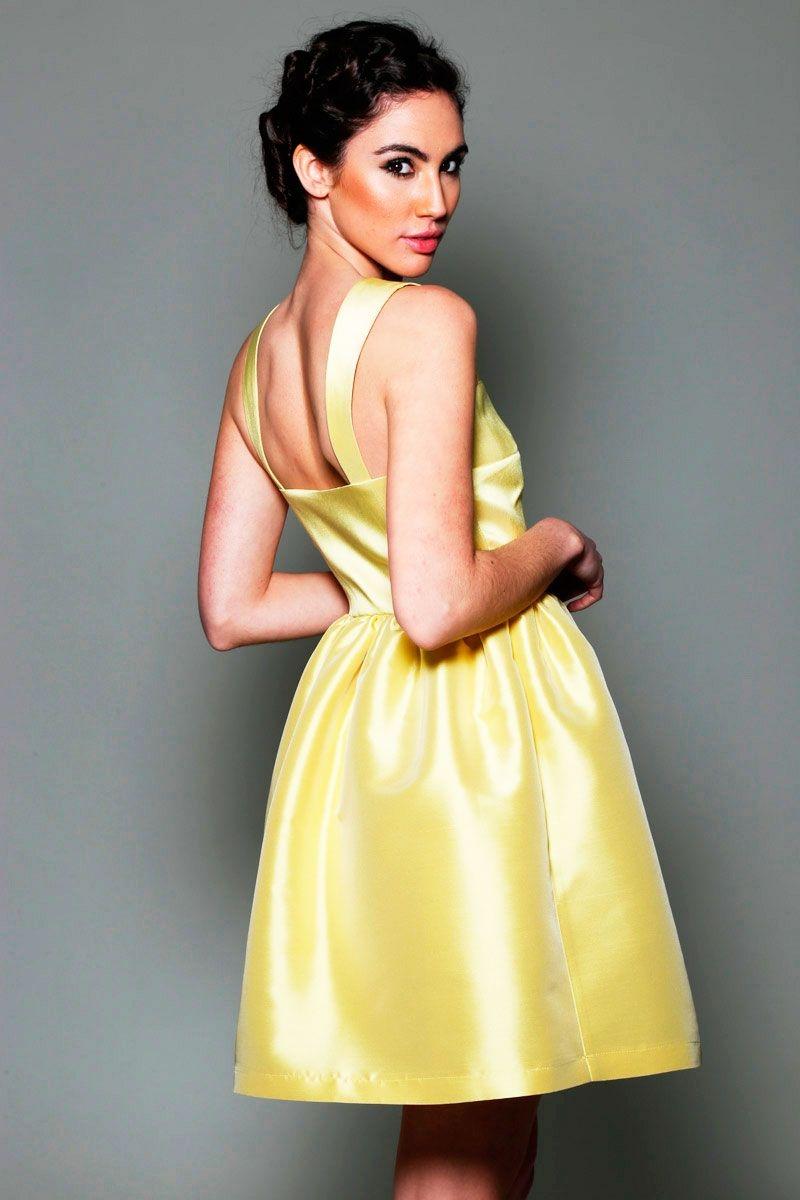 Vestido corto fiesta amarillo