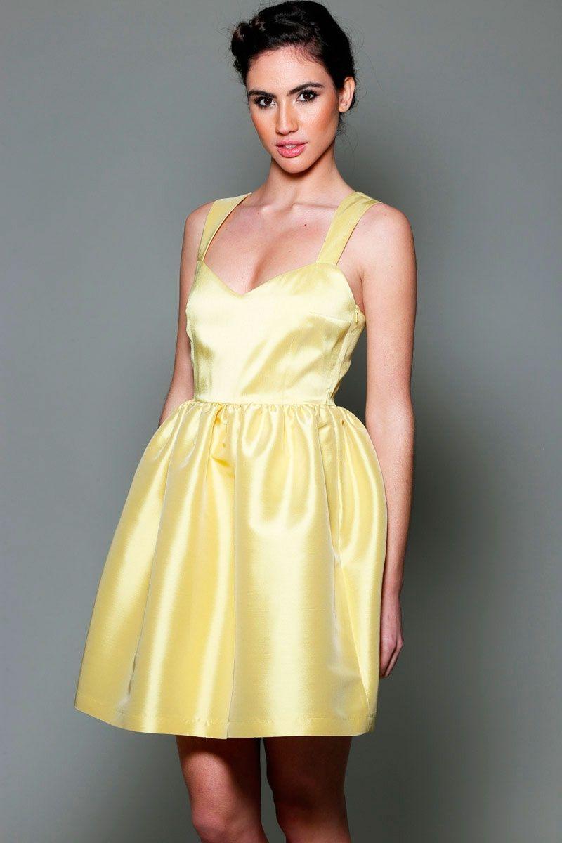 eeb0f594e91 comprar online vestido amarillo de fiesta para invitada de boda bautizo  comunion evento de primavera verano