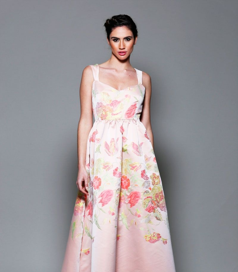 Vestido Largo Estampado De Flores Para Invitada Boda