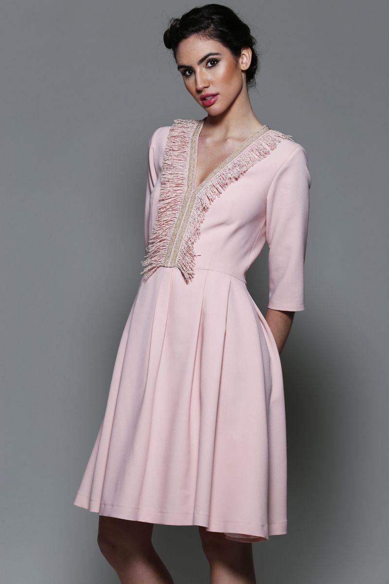 Comprar vestido invitada boda manga larga