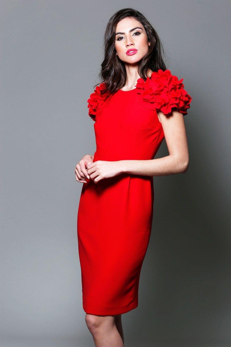 Vestido corto azul de Carolina Herrera de la colección otoño 20 vestidos de fiesta cortos para invitadas a boda. los vestidos y trajes de chaqueta sobrios que realcen la belleza de.