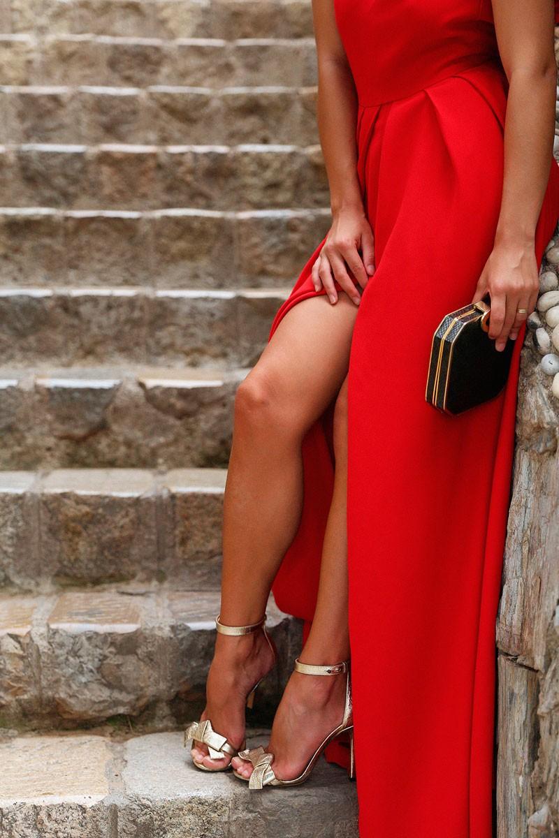81dac5dd919 comprar online vestido largo rojo con escote en la espalda de fiesta boda  de apparentia collection