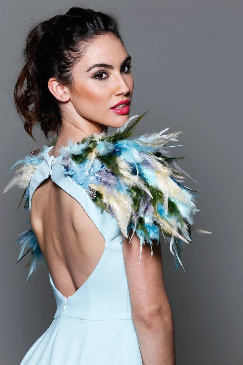 Ver vestidos de fiesta con plumas