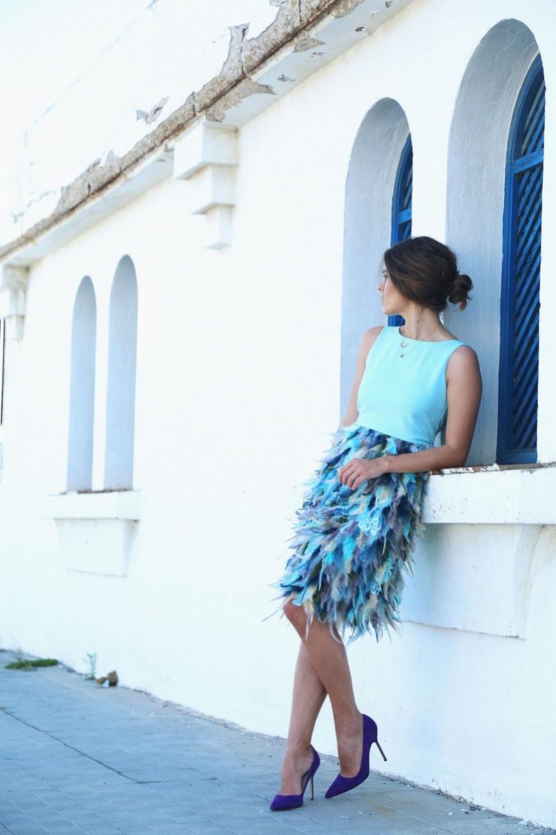 Comprar vestidos de fiesta con plumas