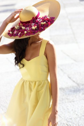 vestido de fiesta largo amarillo para invitada boda, evento de apparentia collection primavera verano 2016