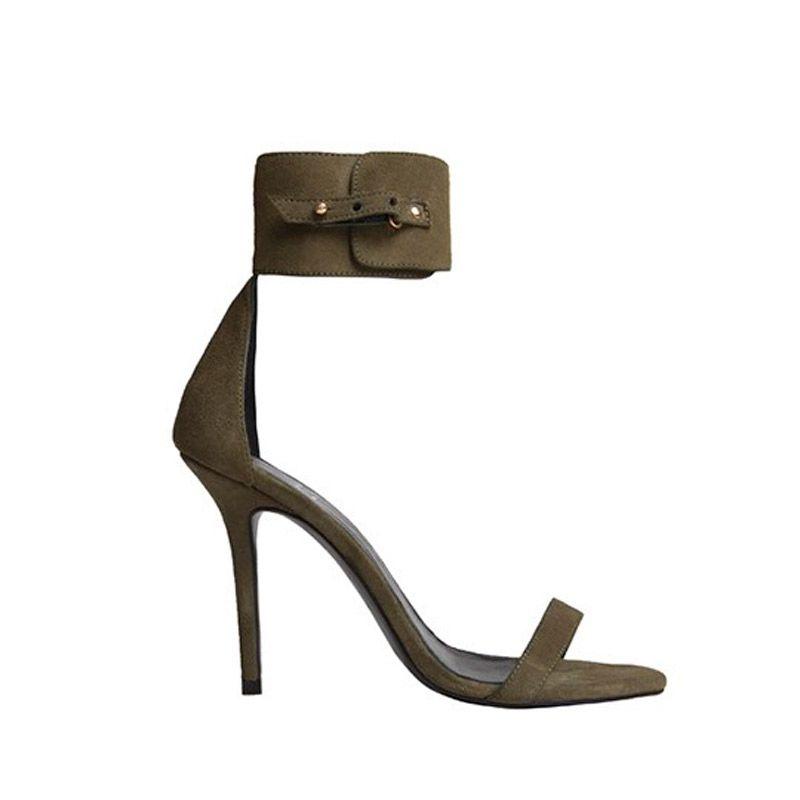 VISANZE Sandalias de AnteCaquiTacón: 10 cm Ep1pfFYsZl