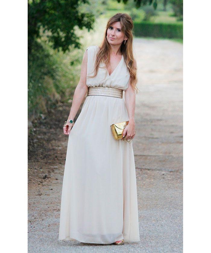 Vestidos de fiesta largos beige