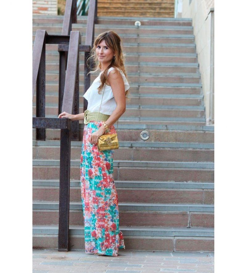 8d66556b7 Pantalon ancho de flores palazzo para invitadas boda online