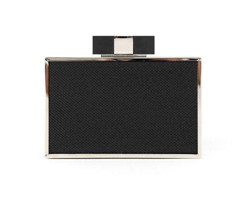 8a619a98d bolso de fiesta negro con detalles plata invitadas boda online